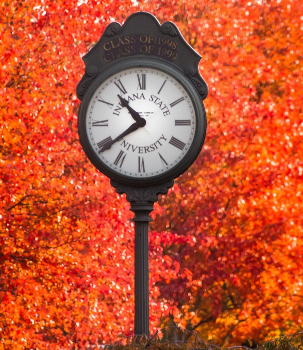 Clock in fall