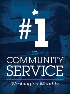 #1 in Community Service